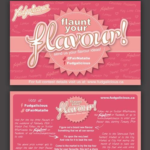 Flaunt Your Flavour! Create a Postcard for a fudgalicious Flavour Contest!