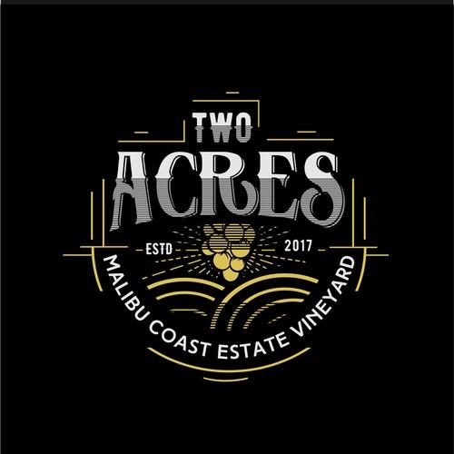 Logo for exclusive Malibu estate vineyard