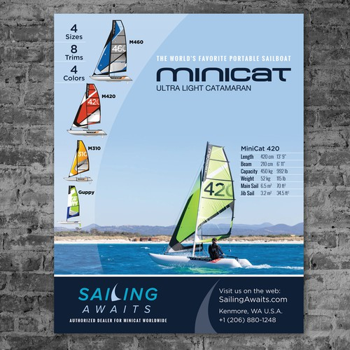 Trade Show Poster for Sailboat Dealer