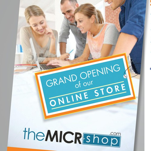 Flyer for the online store opening