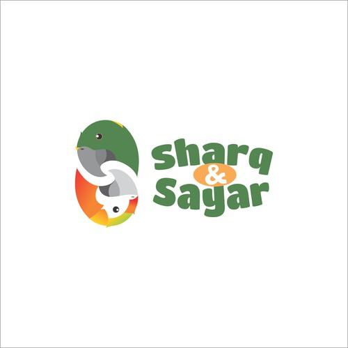 Fun podcast logo using the client's pet parrots