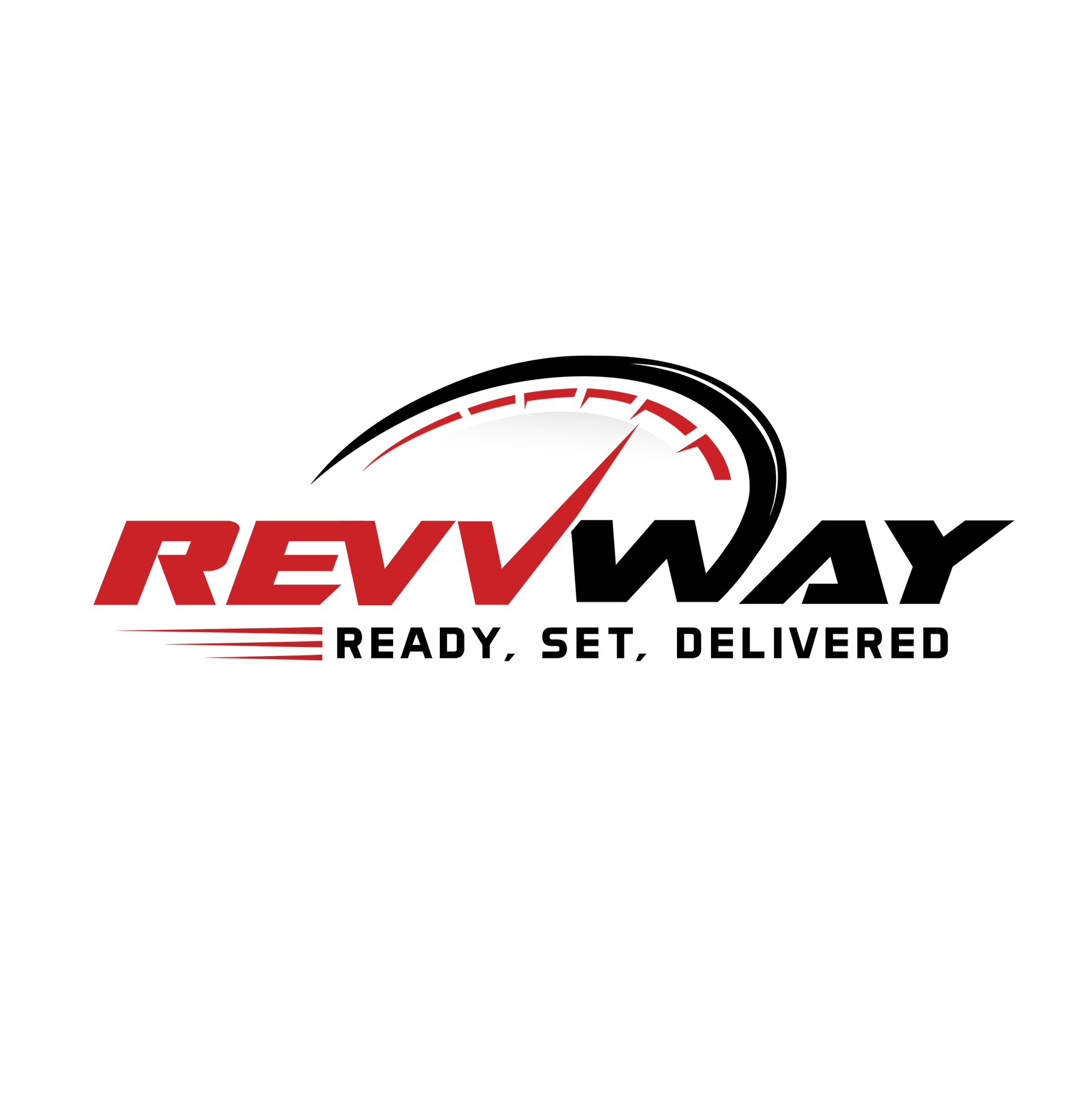 Design a sleek auto parts delivery logo for RevvWay
