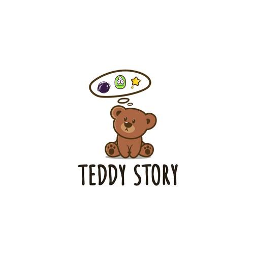 cute teddy logo