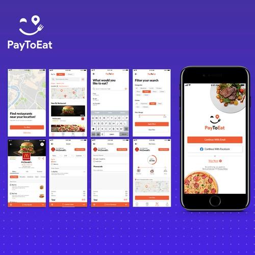 UI app concept for online food ordering