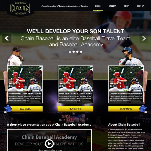 Elite Baseball Academy Layout