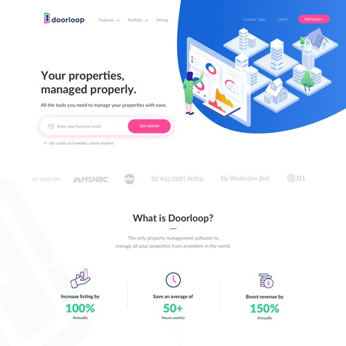 Modern website for a Real Estate Saas product
