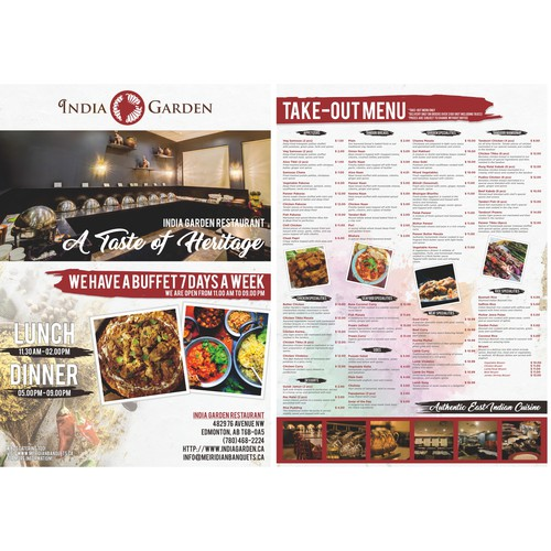 Indian Garden Restaurant Flyer