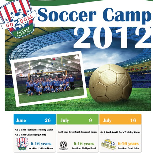 Poster design for soccer camp