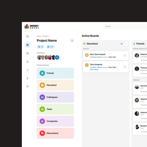 Project management webapp