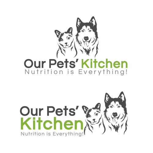 Logo concept for Our Pets' Kitchen.