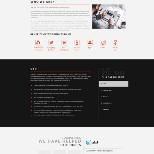 Zealcom Website Design Concept