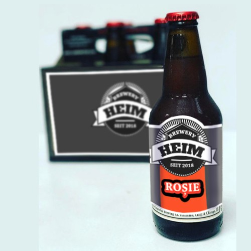 Beer label - Rosie
