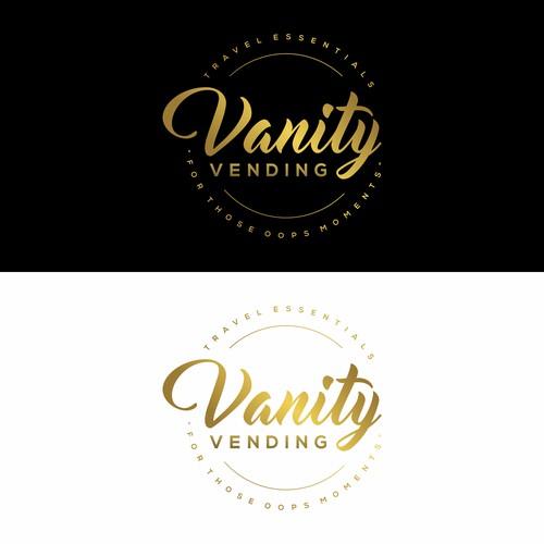 Vanity Vending Travel Essentials logo design