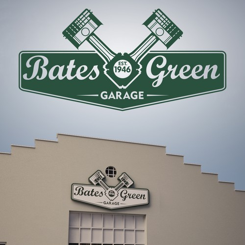 Vintage/retro logo for Bates and Green