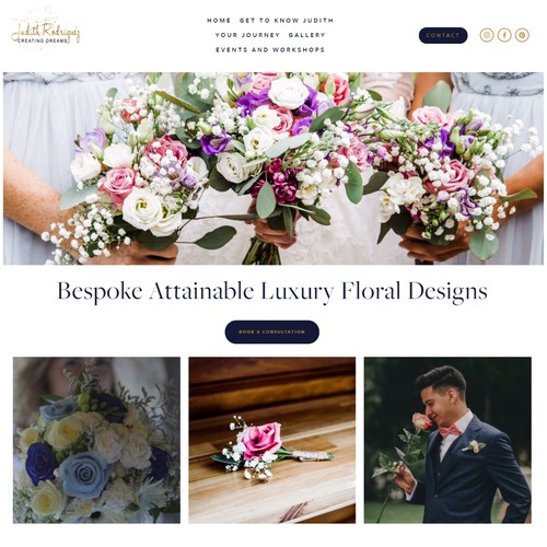 Squarespace Website - Judith Creating Dreams Floral Designer