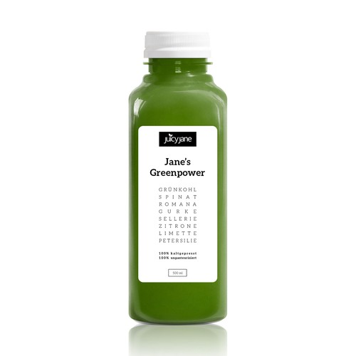 Cold Pressed Juice Label Design
