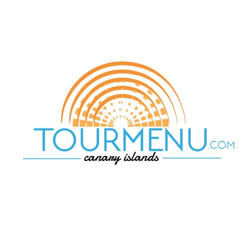 TOURMENU.COM - LOGO for website that sells excursions and activities.