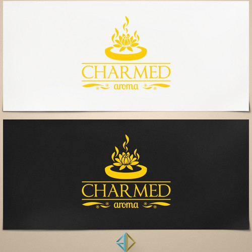High end luxury candle logo (after win, we work 1 to 1 for label design)