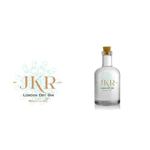 Winning logo for gin
