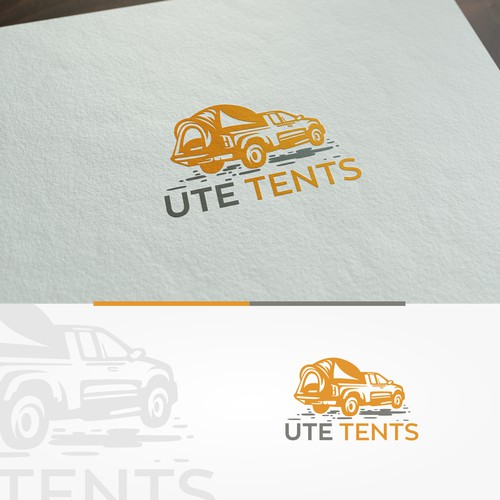 Create a logo UteTent the Tent for the back of your Ute
