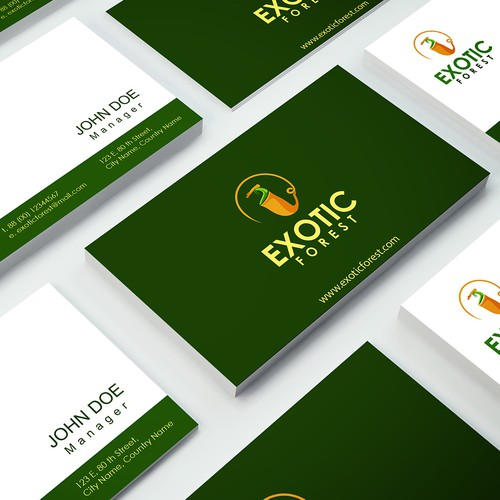 Bold logo exotic forest