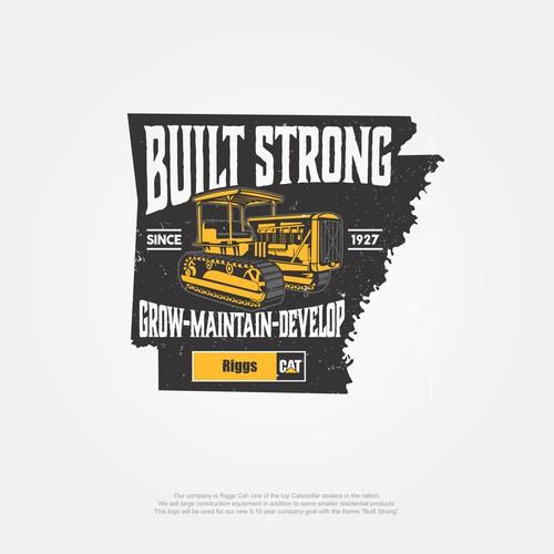 """Design a vintage """"Built Strong"""" Logo"""
