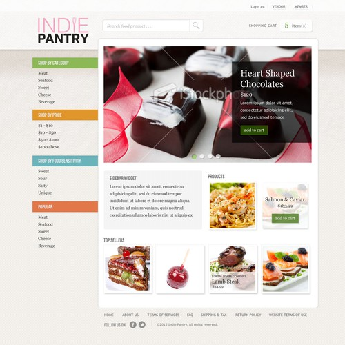 Website Design for Ecommerce Business - Quirky Food Reseller