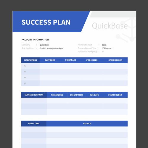 QuickBase Success Plan Ms. Word Template