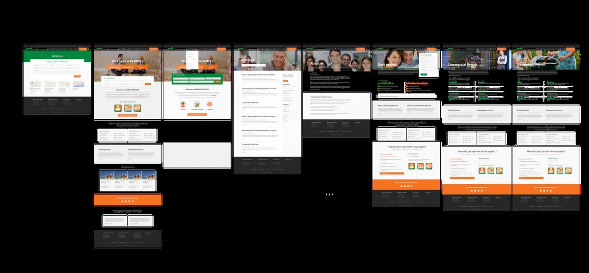 Permit Master website design & development