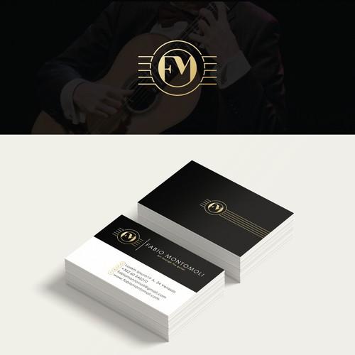 Elegant and versatile logo for a guitarist