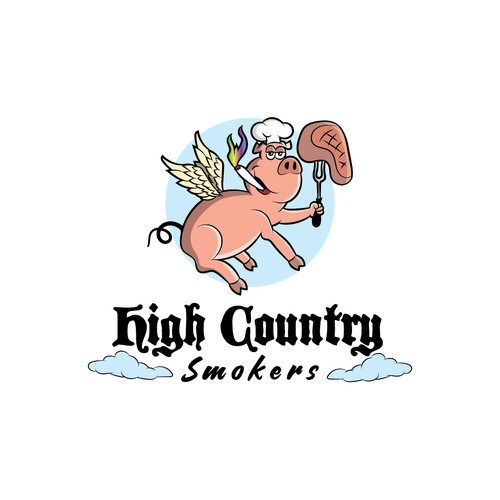 logo for competition for BBQ team
