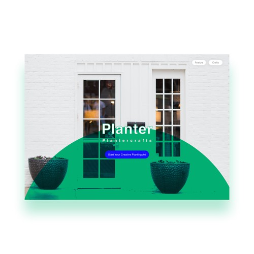Planters Landing Interface Design