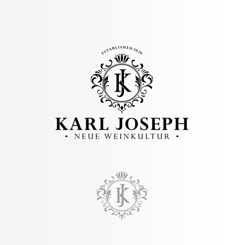 Luxury logo concept for wine product