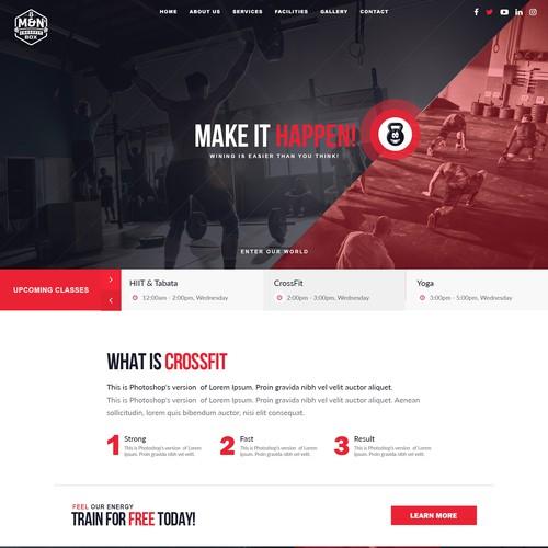 CrossFit homepage design