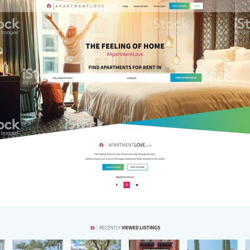 Home page design for Real Estate company