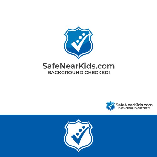 Background checked logo