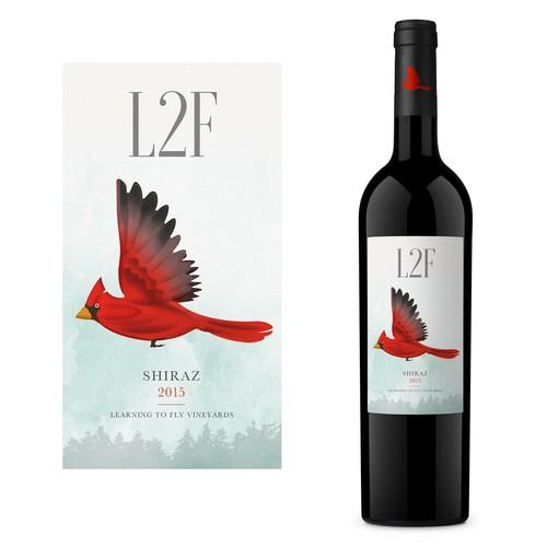 L2F Shiraz Wine Label