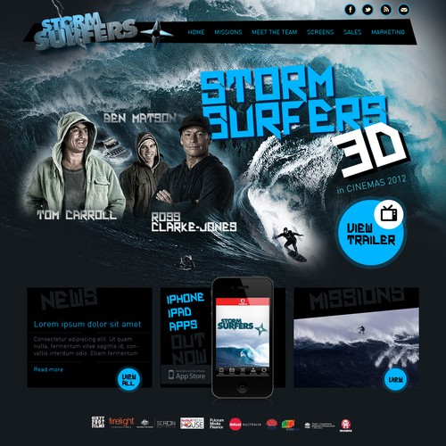 Help STORM SURFERS with a new website design