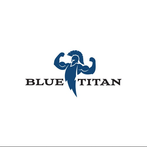 "Strong logo concept for ""BlueTitan"" fitness"