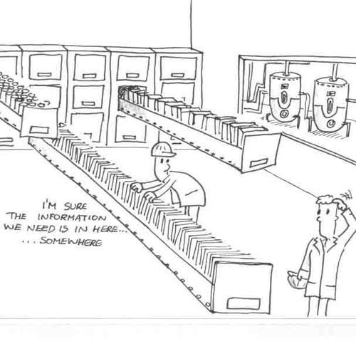 Avalanche of Data Cartoon