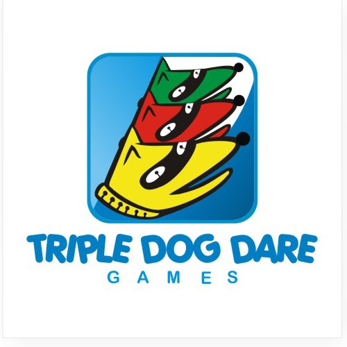 Create the next logo for Triple Dog Dare Games