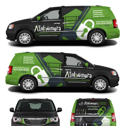 Van Wrap for Alohomora Locksmith & Garage