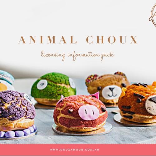 Franchise information pack design for Doux Amour
