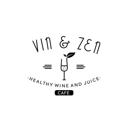 """Logo Vintage For """"Vin & Zen Cafe"""""""