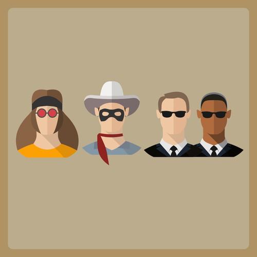 Hippy, Ranger, Men in Black