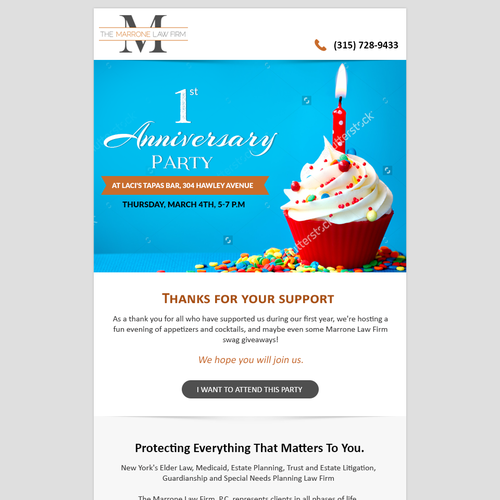 Law Firm Seeks Email Invitation Template