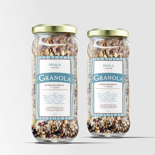 Label Design Concept Granola