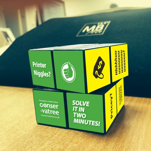 Design of Rubik Cube artwork