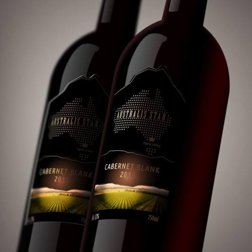 Label for Australian wine