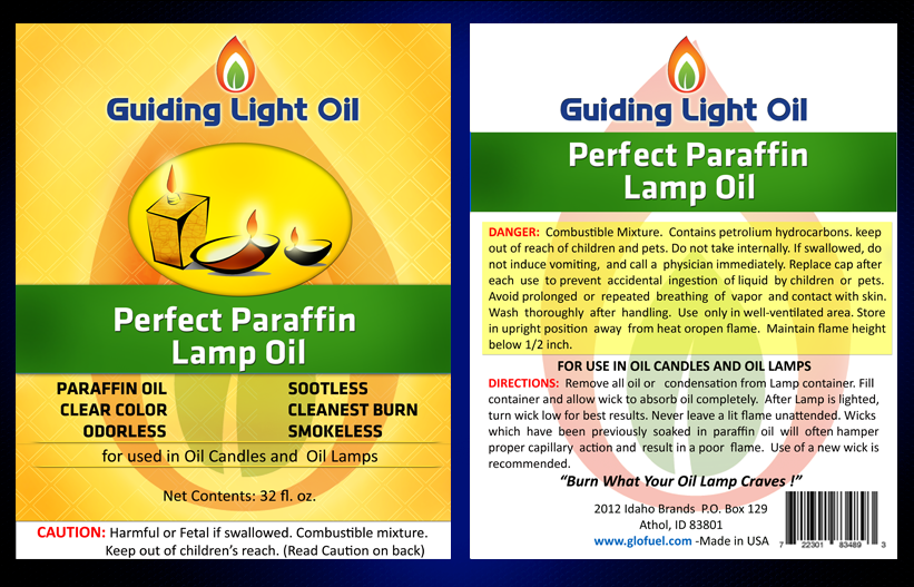 New product label wanted for Guiding Light Oil
